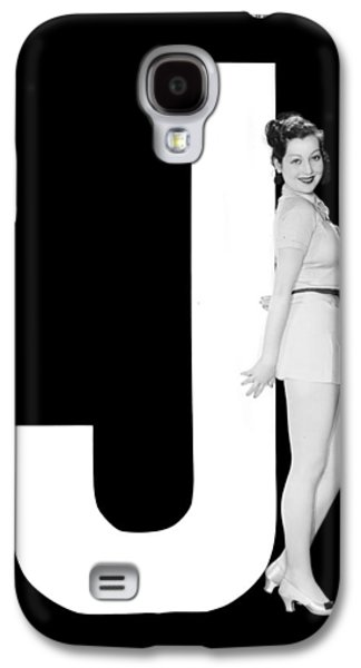 The Letter j And A Woman Galaxy S4 Case