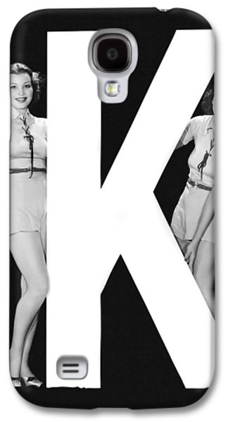 The Letter k  And Two Women Galaxy S4 Case by Underwood Archives