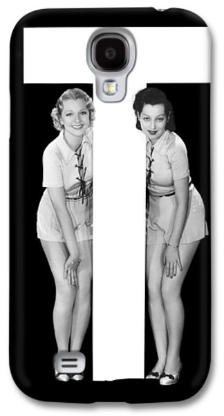 The Letter t And Two Women Galaxy S4 Case
