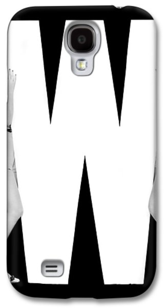 The Letter w And Two Women Galaxy S4 Case