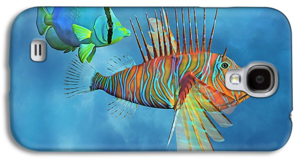 The Lion And The Butterfly Galaxy S4 Case by Betsy Knapp