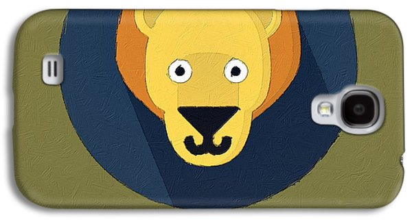 The Lion Cute Portrait Galaxy S4 Case by Florian Rodarte