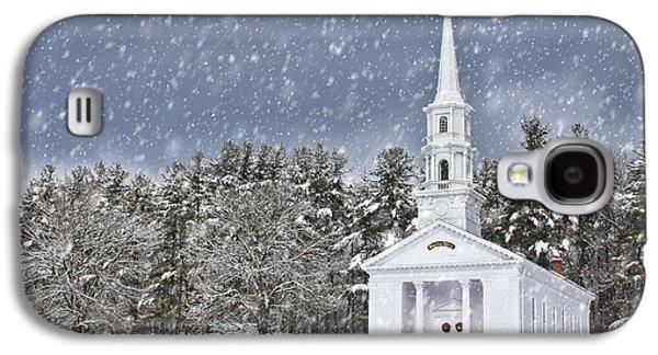 The Little Chapel In Winter Galaxy S4 Case by Jayne Carney