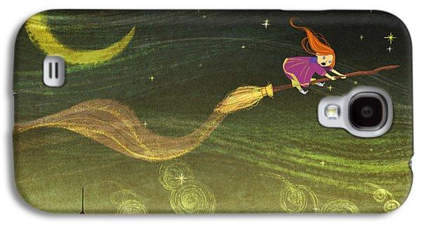 The Little Witch Galaxy S4 Case by Kristina Vardazaryan