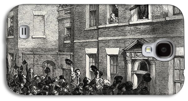 The Liverpool Election, 1812, Uk Mr. Gladstone Speaking Galaxy S4 Case by English School