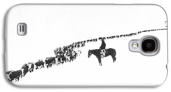 Rural Scenes Galaxy S4 Case - The Long Long Line by Underwood Archives  Charles Belden