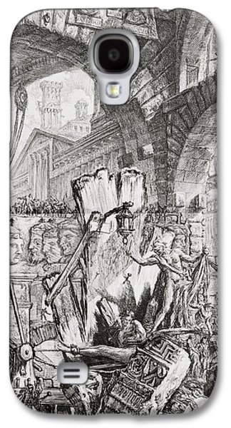 The Man On The Rack Plate II From Carceri D'invenzione Galaxy S4 Case by Giovanni Battista Piranesi