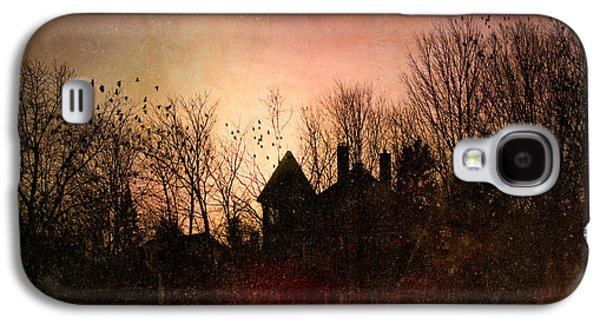 Dreamscape Galaxy S4 Cases - The Mansion Is Warm At The Top Of the Hill Galaxy S4 Case by Bob Orsillo