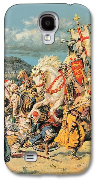 The Mighty King Of Chivalry Richard The Lionheart Galaxy S4 Case by Fortunino Matania