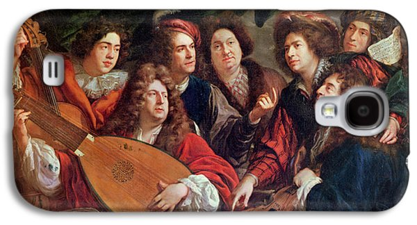 The Musical Society, 1688 Oil On Canvas Galaxy S4 Case by Francois Puget