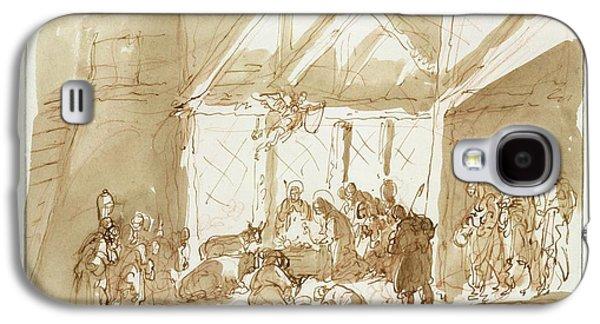 The Nativity Of Christ, With Shepherds Galaxy S4 Case by Giuseppe Bernardino Bison