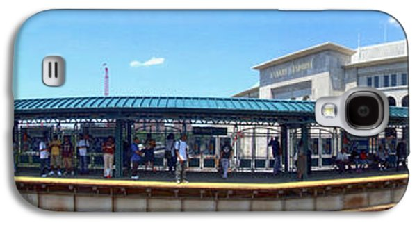 The Old And New Yankee Stadiums Panorama Galaxy S4 Case by Nishanth Gopinathan