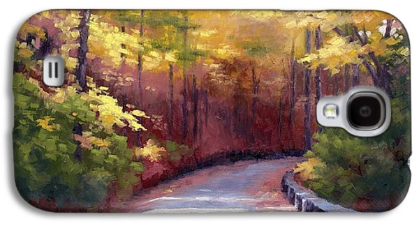 The Old Roadway In Autumn II Galaxy S4 Case by Janet King
