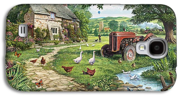 Geese Galaxy S4 Case - The Old Tractor by Steve Crisp
