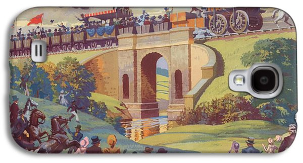 The Opening Of The Stockton And Darlington Railway Macmillan Poster Galaxy S4 Case by Norman Howard
