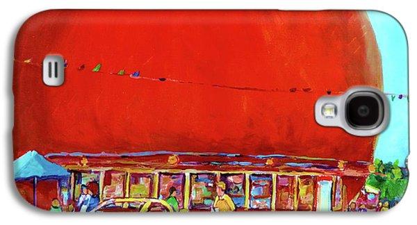 The Orange Julep Montreal Summer City Scene Galaxy S4 Case by Carole Spandau