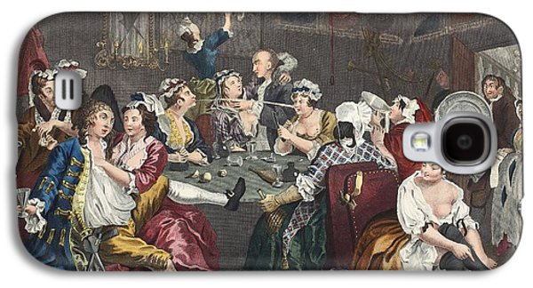 The Orgy, Plate IIi From A Rakes Galaxy S4 Case by William Hogarth
