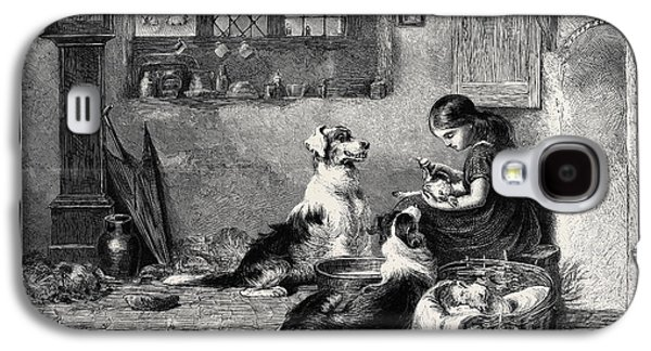 The Orphans, A Drawing In The Dudley Gallery Galaxy S4 Case by Riviere, Briton (1840-1920), English