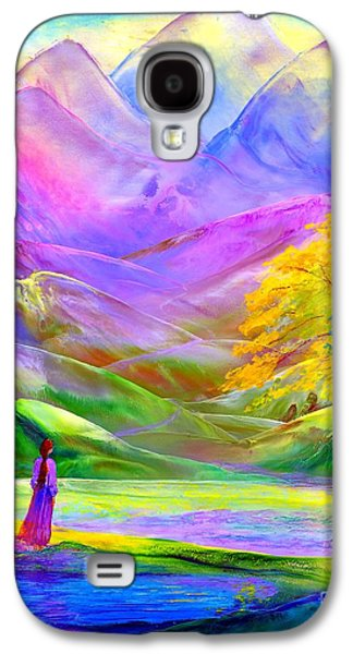 Misty Mountains, Fall Color And Aspens Galaxy S4 Case by Jane Small