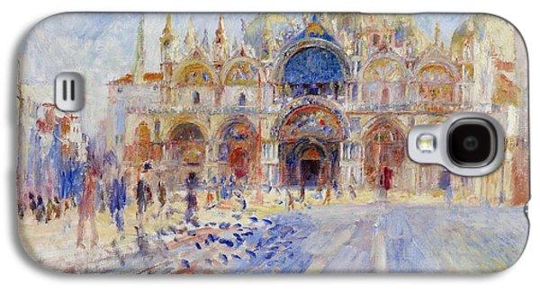 The Piazza San Marco Galaxy S4 Case by Pierre Auguste Renoir