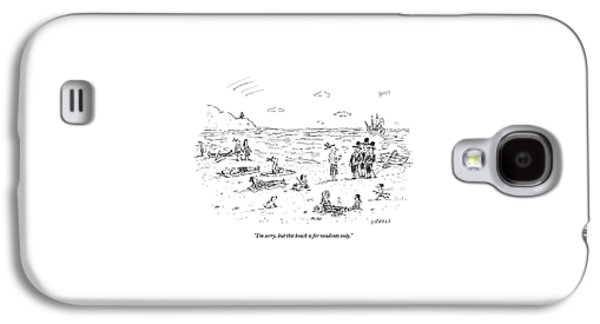 The Pilgrims Arrive At A Native American Beach Galaxy S4 Case
