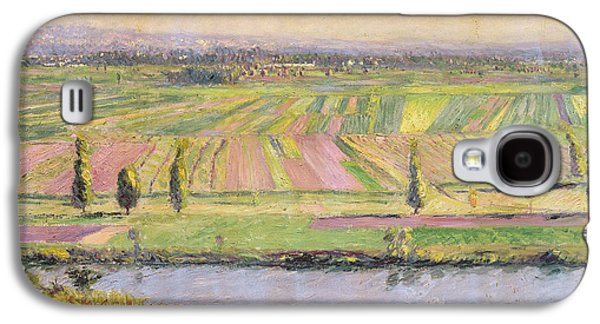 The Plain Of Gennevilliers From The Hills Of Argenteuil Galaxy S4 Case by Gustave Caillebotte