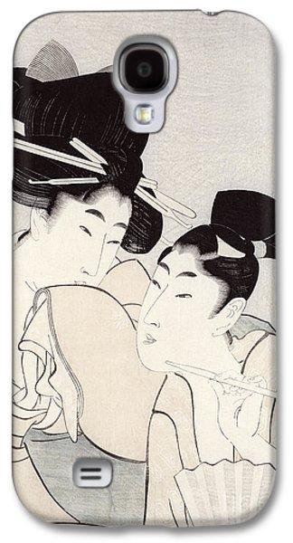 The Pleasure Of Conversation Galaxy S4 Case by Kitagawa Utamaro