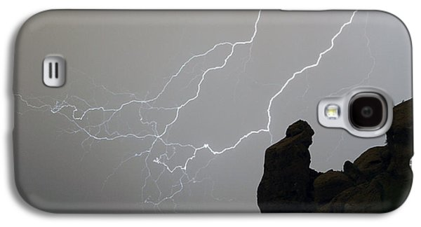 The Praying Monk Lightning Storm Chase Galaxy S4 Case by James BO  Insogna