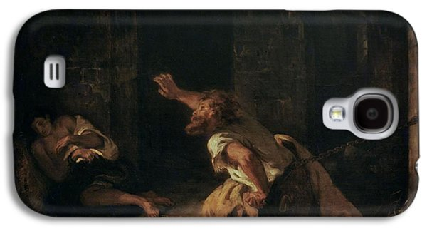 The Prisoner Of Chillon Galaxy S4 Case by Ferdinand Victor Eugene Delacroix