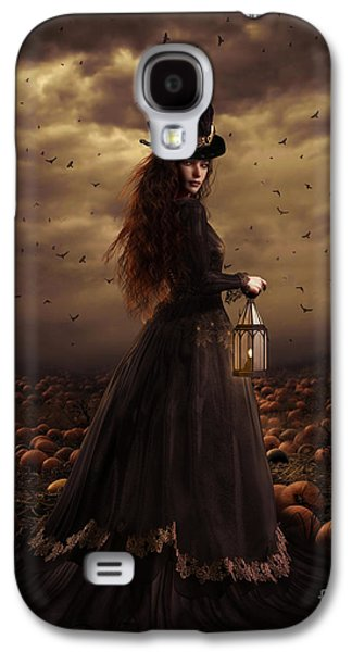 Crow Galaxy S4 Case - The Pumpkin Patch by Shanina Conway