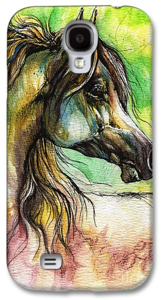 The Rainbow Colored Arabian Horse Galaxy S4 Case by Angel  Tarantella