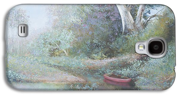 The Red Canoe Galaxy S4 Case by Jan Matson