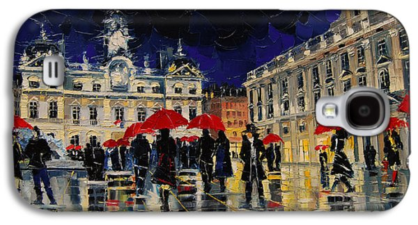 The Rendezvous Of Terreaux Square In Lyon Galaxy S4 Case by Mona Edulesco