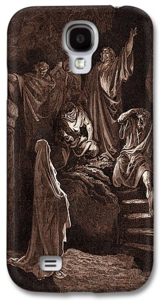 The Resurrection Of Lazarus, By Gustave Dore Galaxy S4 Case by Litz Collection