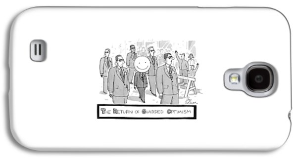 The Return Of Guarded Optimism Galaxy S4 Case by Leo Cullum