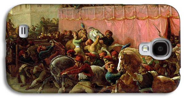 Wild Racers Galaxy S4 Case - The Riderless Racers At Rome by Theodore Gericault