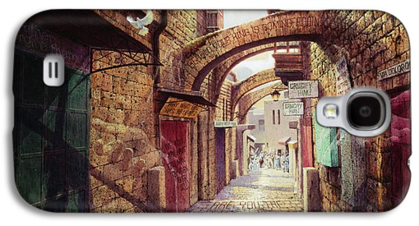 The Road To The Cross  Jerusalem Galaxy S4 Case by Graham Braddock