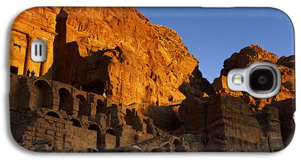 The Royal Tombs At Petra, Wadi Musa Galaxy S4 Case by Panoramic Images