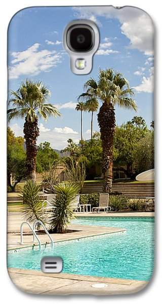 The Sandpiper Pool Palm Desert Galaxy S4 Case by William Dey