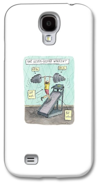 The Seven Second Workout Galaxy S4 Case by Roz Chast