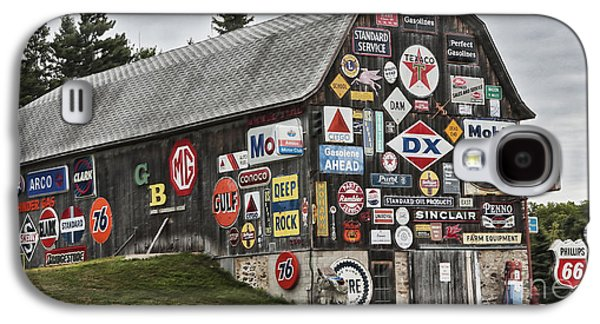 Galaxy S4 Case featuring the photograph The Sign Barn by Ricky L Jones