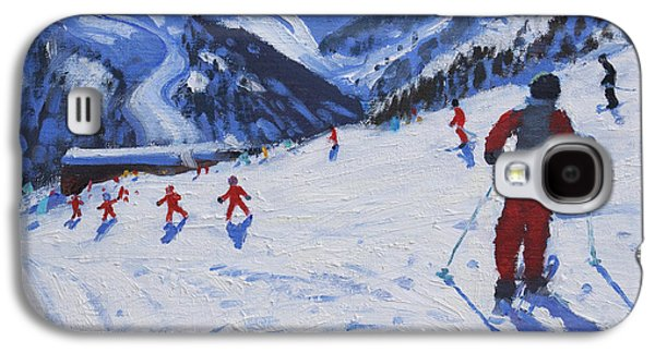 The Ski Instructor Galaxy S4 Case by Andrew Macara