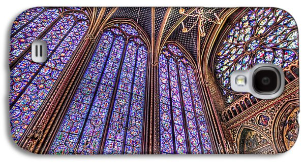 The Stained Glass Of La Sainte-chapelle Galaxy S4 Case