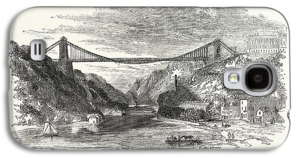 The Suspension Bridge At Clifton, Uk, Britain Galaxy S4 Case by English School