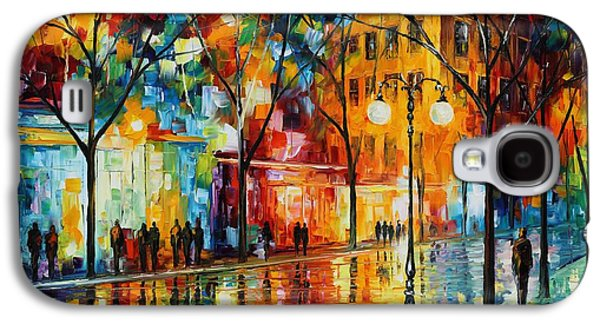 The Tears Of The Fall - Palette Knife Oil Painting On Canvas By Leonid Afremov Galaxy S4 Case by Leonid Afremov