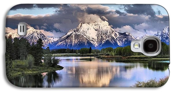 The Tetons From Oxbow Bend Galaxy S4 Case by Dan Sproul