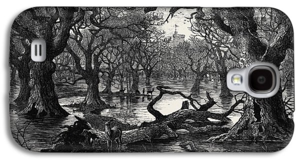 The Thames Floods Scene In The Home Park Windsor 1879 Galaxy S4 Case by English School