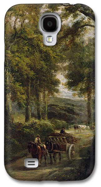 The Timber Wagon Oil On Canvas Galaxy S4 Case by Henry Earp