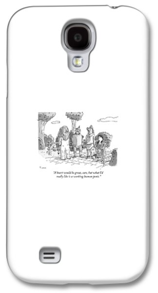 Wizard Galaxy S4 Case - The Tin Man Of The Wizard Of Oz Speaks by Zachary Kanin