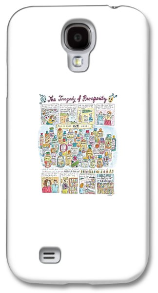 Broccoli Galaxy S4 Case - 'the Tragedy Of Prosperity' by Roz Chast